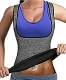 Bingrong Frauen Fitness figurformend Unterbrust Taillenmieder Bauchweg ,Grau,L