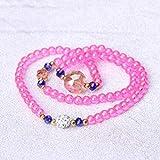 FASHLOVE Farbe Perlen 3 Runden DREI-Bohrer-Kristall-Armband, 6mm, nationalen Stil Armband, Damen, rosa