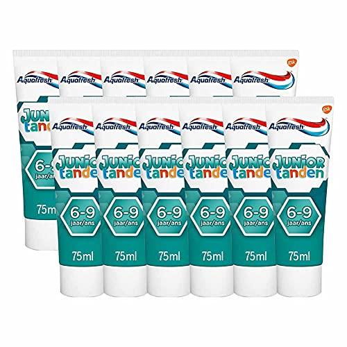 Aquafresh Junior tanden Tandpasta Voordeelverpakking 12x 75ml