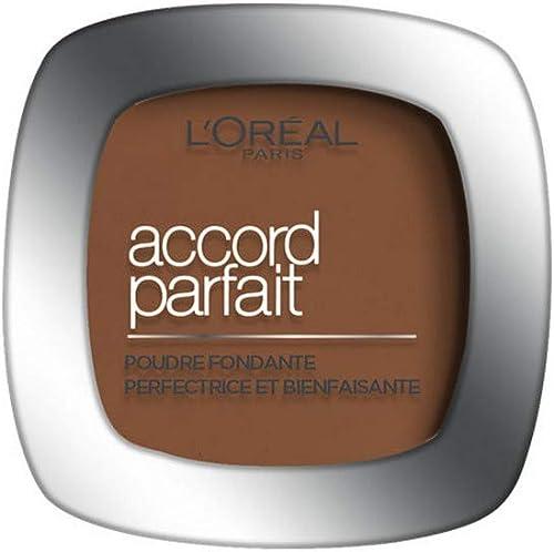 L'Oréal Paris - Poudre Fondante Accord Parfait - Peaux Normales à Mixtes - Teinte : Doré Foncé (10.D) - 9 g