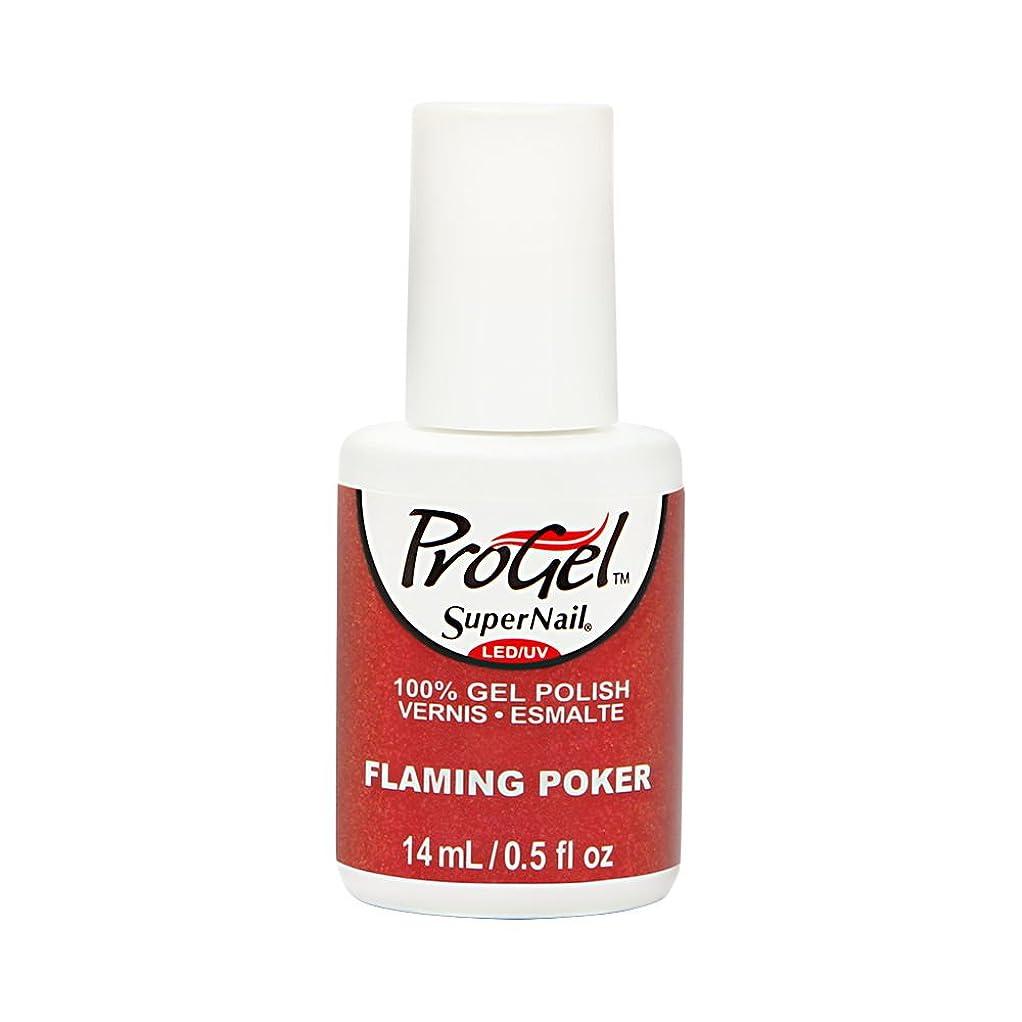 キャンセルかんたん大佐SuperNail ProGel Gel Polish - Flaming Poker - 0.5oz/14ml
