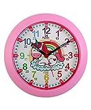 Kiddus Ki50120 Unicorn DE Orologio Pedagogico per Bambine e Bambini, da Parete, Analogico, Impara l'orario con il nostro semplice sistema Time Teacher, esercizi inclusi