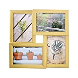 AmazonBasics Cadre photo multiple (4)- 10 x 15 cm, Laiton