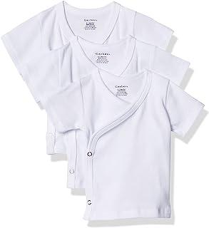 Gerber Baby Girls' 3-Pack Short-Sleeve Side-snap Shirt