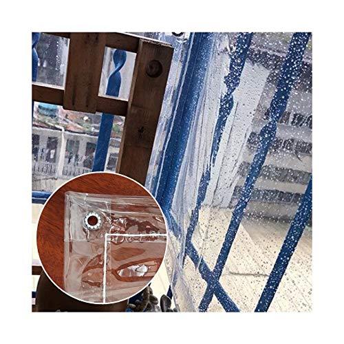 LJIANW-lonas impermeables exterior, Transparente Lona PVC Impermeable Tarea Pesada Láminas De Plástico Tienda con Ojales por Mueble De Jardín, Coche, Jardinería Cubiertas De Plantas