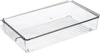 NICEXMAS Bacs de Rangement pour Réfrigérateur avec Poignée Extractible Organisateur de Tiroir de Réfrigérateur Boîte de Ra...