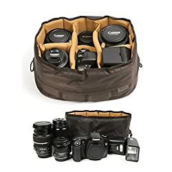 professional Siesta Flexible Cushion Partition-MDSRL SLR Lens Case with Soft Pad