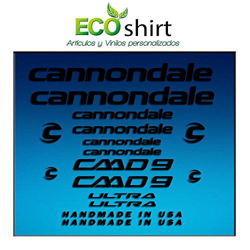 Ecoshirt OJ-JVWE-5GJK sticker lijst Cannondale CADD 9 Am27 stickers Decals Sticker Bike BTT MTB Cycle, zwart