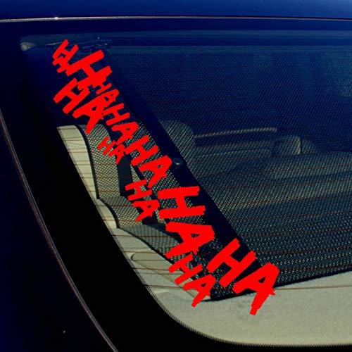 Celycasy Auto-Aufkleber, Motiv Joker Hahaha Serious Super Bad Evil Karosserie, 40,6 cm, Rot, 2 Stück