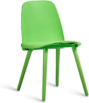 現代のファッションシンプルな本の椅子レストランクリエイティブカラーダイニングチェアホームノルディックデスクチェアレジャーバックカラースツール (Color : BLACK)