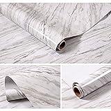 HautStore Papel Adhesivo para Muebles Marmol, 40*1000cm Autoadhesiva Resistente al Agua Papel Pared de PVC Adecuado para Todo Tipo de Lugares Lisos y Planos como Mesa de Comedor, Cocina, Dormitorio