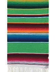 Multianvändning mexikansk sarapapapapapsduk (bordslöpare, liten filt, sjal, scarf) flerfärgad 140 x 60 cm yoga, meditation, festivaler, picknick