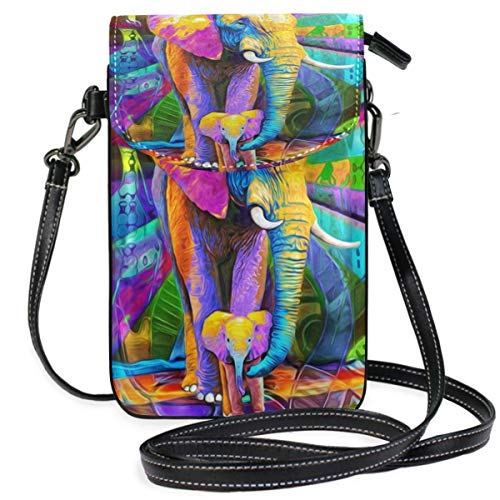 XCNGG Elephant Cell Phone Purse Wallet for Women Girl Small Crossbody Purse Bags
