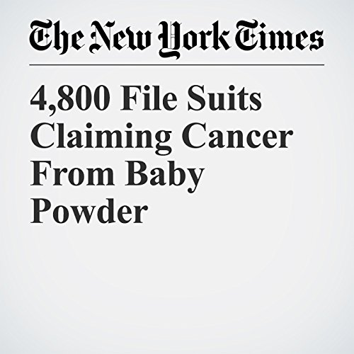4,800 File Suits Claiming Cancer From Baby Powder copertina