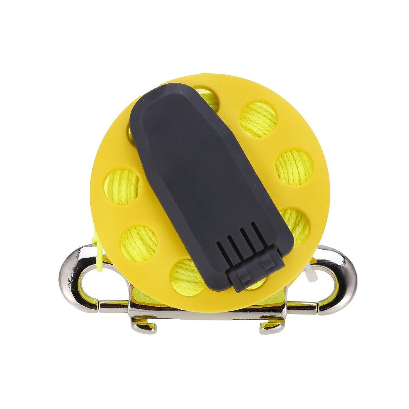 拍車ミッション描くスキューバ ダイビングリール ダイビング フィンガースプール ハンドル付き クリップ コード アルミニウム合金 潜水用品 アクセサリー
