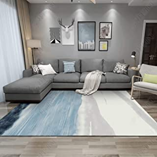 ZMIN Soft Shag Area Rug, Modern Moroccan Geometric Carpet Living Room Sofa Coffee Table Floor Mat Bohemian Bedroom Home Bedside Rug-v 160x230cm(63x91inch)