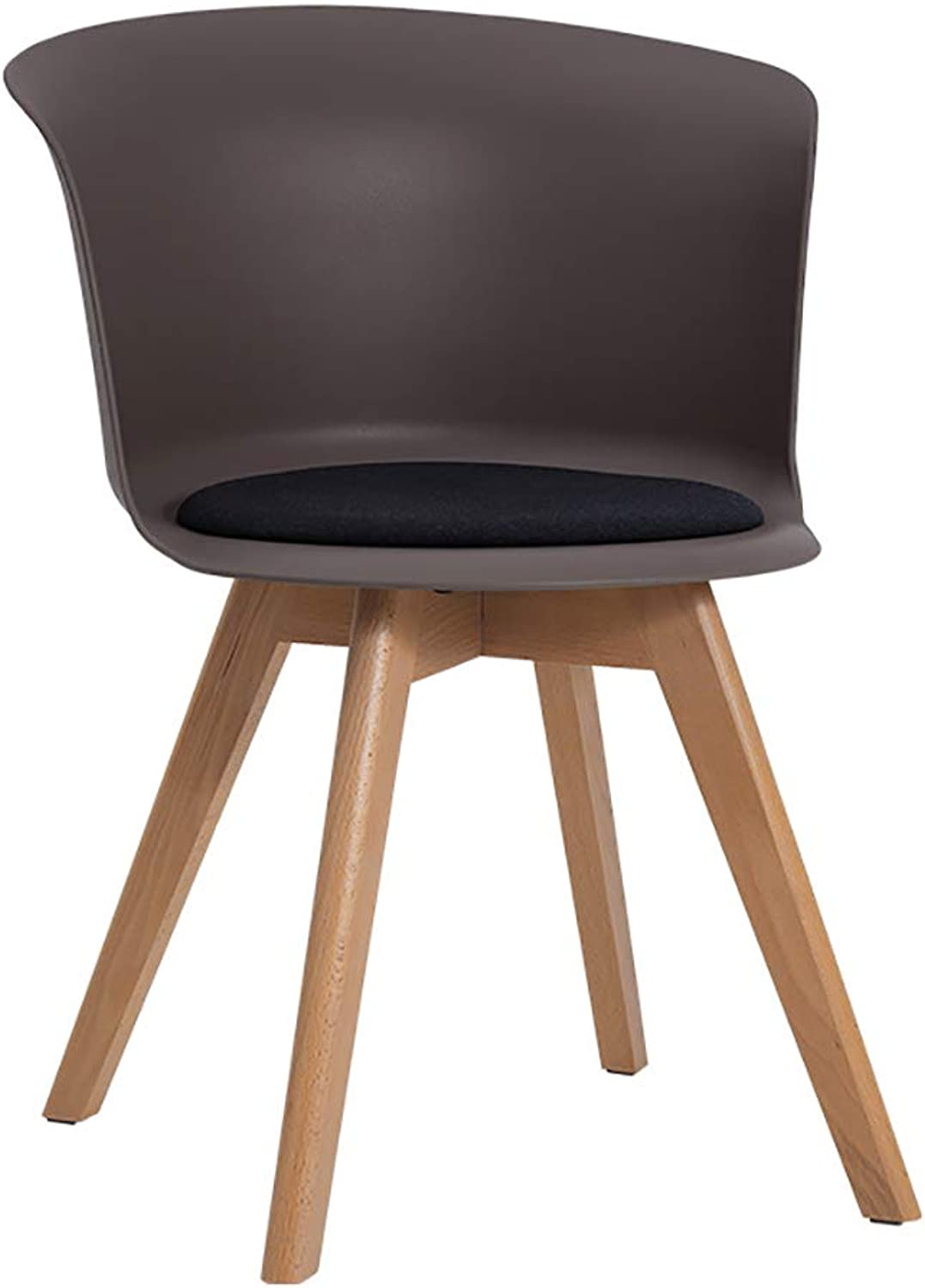 Tea Shop backrest Chair with pad Solid Wood Modern Minimalist ins Home Creative Study Chair (color   A)