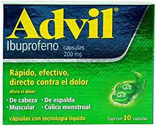 Advil Fastgel – Ibuprofeno 200mg. 10 cápsulas