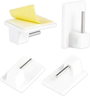 LIHAO Juego de 20 Ganchos Adhesivos para Barra de Cortina de Ventana - 2,8 x 1,9 x 1,1 cm - Blanco