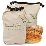 Breadpitt 2 Pack Bread Bag linen bread bags reusable bread bag homemade bread Counter Top Cloth Bread Storage and Transport Solution Housewarming Wedding Gift Usable for Any Other Product