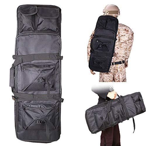 LXNQG Waffentasche Gun Bag Futteral Gewehrtasche, Double Rifle Bag mit Pouches Compartments, Futteral Langwaffen Waffentasche Gewehrtasche, Ganz Einfach zu Tragen (Color : Black, Size : 120cm/47in)