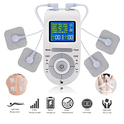 TENS Electroestimulador Dolor De Cervical Piernas Abdominal Espalda Cuello Estimulador De Pulso De Unidad De Decenas Estimulador Muscular