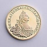 Eeng Moneda Conmemorativa chapada en Oro Rusa 3D Moneda de águila de Dos Cabezas al por Mayor