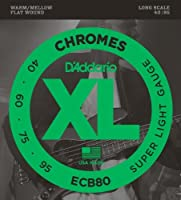 【 並行輸入品 】 D'Addario (ダダリオ) ECB80 ベースギター 弦, Light, 40-95, Long Scale