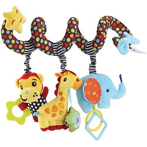 Colgante de Animal, Juguetes en Espiral Colgantes de Dibujos Animados para Cuna, Envoltura de bebé Alrededor del Cochecito en Espiral, Juguetes para Asiento de Coche, Juguetes para el Desarrollo