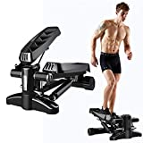 DODOBD Stepper Fitness Hometrainer Stepper up-Down-Stepper con Cuerdas de Resistencia Máquina de Step Mini Stepper con Pantalla Multifuncional Carga máxima 120 kg