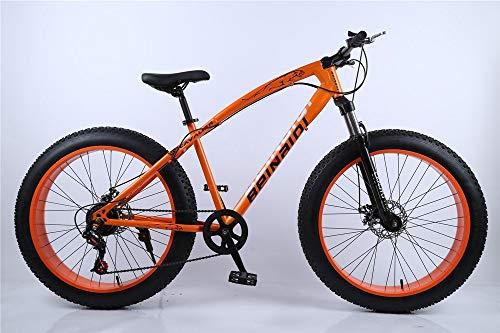 kmart Schneemobil, Fat Bike, Fat Bike, Beach Bike, 4.0 Fat Tire, 26 Zoll, variable Geschwindigkeit, Mountainbike, Beach Bike, 7 Gang, 21 Gang, 24 Gang, 27 Gänge, Orange, 24 speed