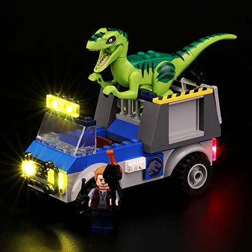 BRIKSMAX Kit de Iluminación Led para Lego Juniors Camión de Rescate del Raptor, Compatible con Ladrillos de Construcción Lego Modelo 10757, Juego de Legos no Incluido