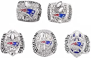 Custom Rings New England Patriots Super Bowl 2001 2003 2004 2014 2016 Ring Set Tom Brady
