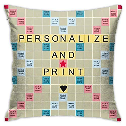 Not Applicable Kissenbezug, Samt-Kissenbezug Best Smart Printable Scrabble Board-Kissenbezüge Standard-Kissenbezug 45x45cm