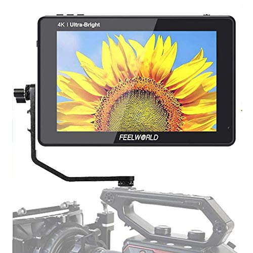 Feelworld LUT7S 7 Inch 2200nits 3D LUT Touch Screen DSLR Camera Field Monitor with Waveform VectorScope Histogram 3G-SDI 4K HDMI Input Output 1920X1200 IPS Panel
