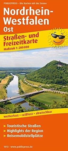 Nordrhein-Westfalen Ost: Straßen- und Freizeitkarte mit Touristischen Straßen, Highlights der Region und Reisemobilstellplätzen. 1:200000 (Straßen- und Freizeitkarte / StuF)