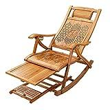 XEWNEGTZI Tumbona plegable, reclinable ajustable para jardín, con almohadilla de algodón y tabla de pies retráctil, tumbonas portátiles para terraza al aire libre, carga de 180 kg (color: silla)