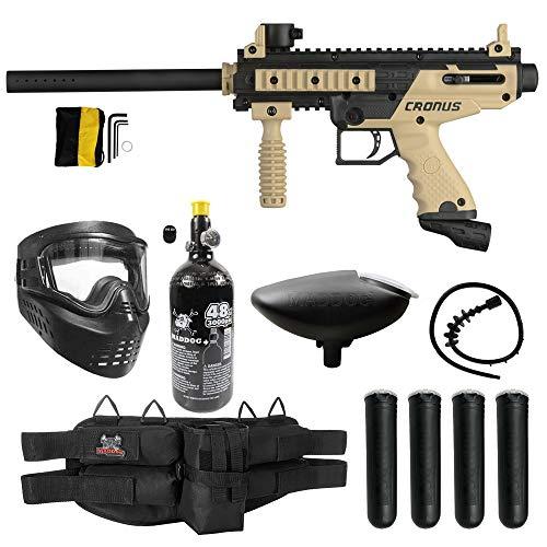 Maddog Tippmann Cronus Basic Silver HPA Paintball Gun Marker Starter Package - Black/Tan