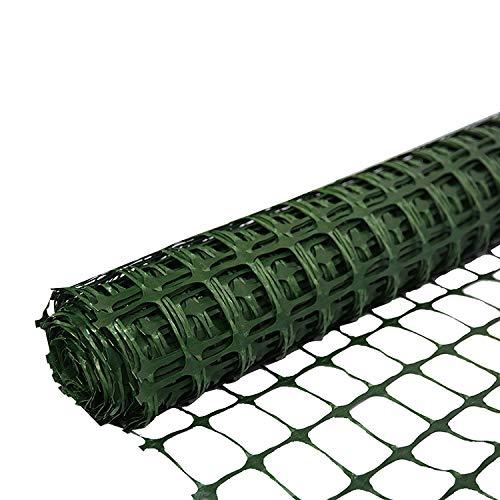 SORARA Schutzzaun Kunststoffgitter Absperrnetz | Grün | 30 m Rolle | 1,2 M hoch