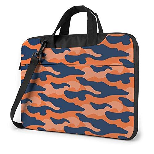 15.6 inch Laptop Shoulder Briefcase Messenger Auburn Camouflage1 Tablet Bussiness Carrying Handbag Case Sleeve