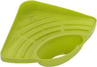 Fan-Ling Sponges Kitchen Sink Corner Shelf,Wall Cuisine Dish Rack Drain Holder,Soap Sponge Rack,Kitchen Sucker Storage Tool (green)