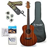 Antonio Giuliani (Clear) Acoustic Guitar Bundle - Mini Jumbo Short-Scale (DN-2P) - Dreadnought Travel Guitar with Case, Strap, Strings and Accessories By Kennedy Violins