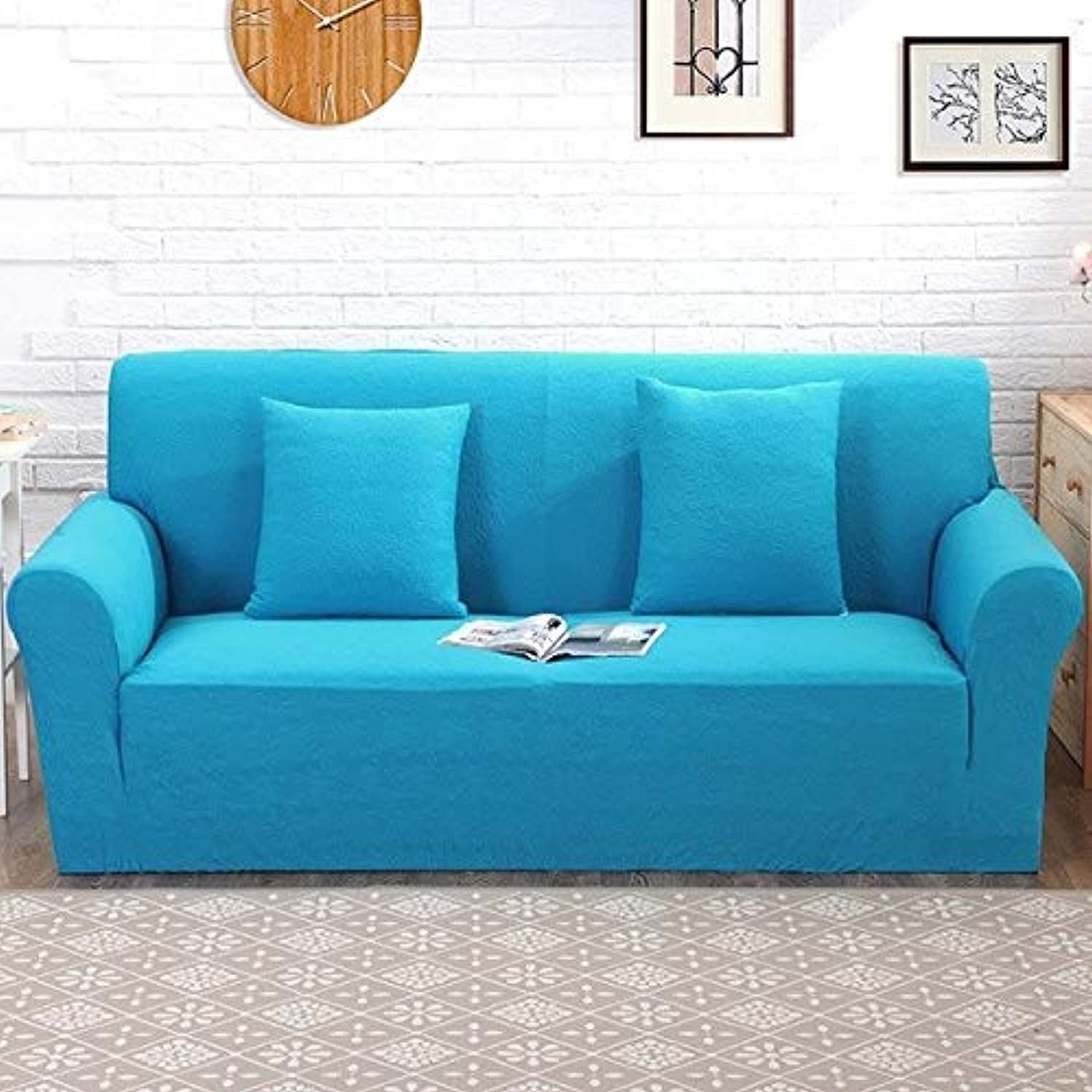 Universal Sofa Bed Cover Without Armrest Tight Wrap Elastic Stretch All-Inclusive Couch Cover Folding Sofa Cover S M L Sizes   color 3, Small Size