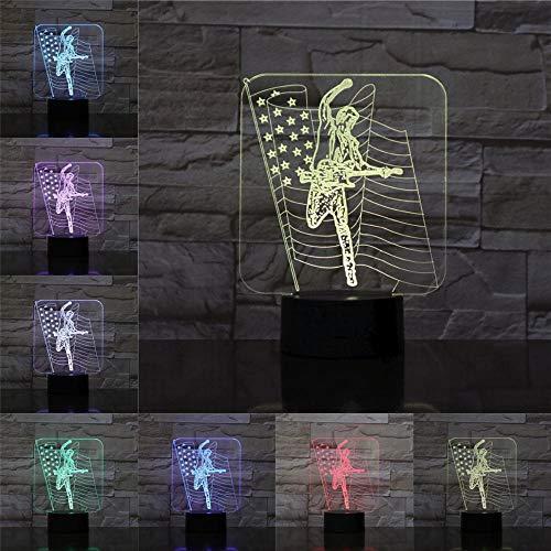 Fashion Tischleuchte American Singer 3D Tischlampe Kinder Spielzeug Geschenk Farbwechsel Nachtlicht n Present Rock Lampen Remote Lava Lampe