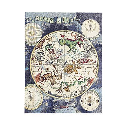 Paperblanks 12-Monatskalender 2020   Himmlische Karte  Verso   Ultra (230 x 180 mm)