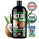 MCT Oil Keto Supplement - 100% C8 & C10 from Non-GMO Coconut - Best for Keto Shake, Coffee,...