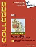 ORL (les référentiels des collèges)