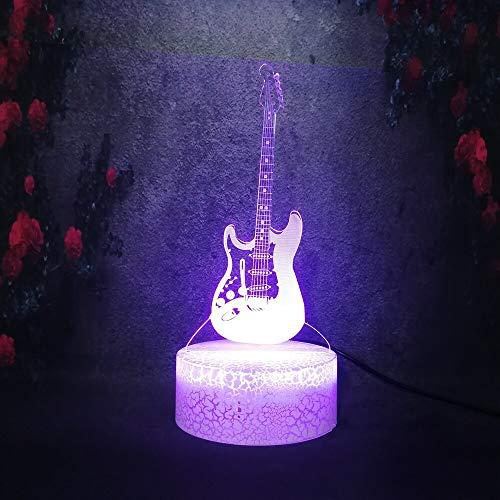 Festival musicale Strumento per chitarra che gioca LED Lava Crack Lamp Lighting Stage Effect 3D Stereo Night Light Giocattolo regalo per bambini