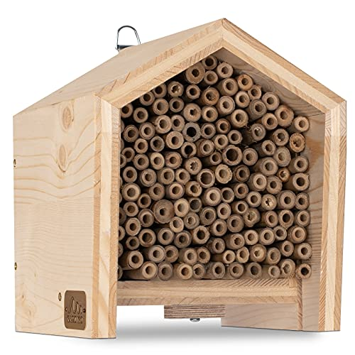 Gardigo Tier-Haus-System Insektenhotel für Bienen | Made in Germany, aus Massivholz | In Sozialeinrichtung gefertigt