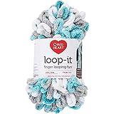 RED HEART E884.9451 Loop-It yarn